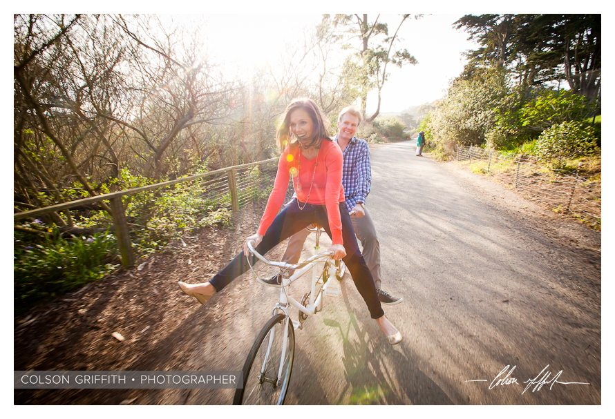 10 San Francisco Presidio Tandem Bike Engagement RB Rachel and Brandons Engagement Session   A Tandem Bike in San Franciscos Presidio