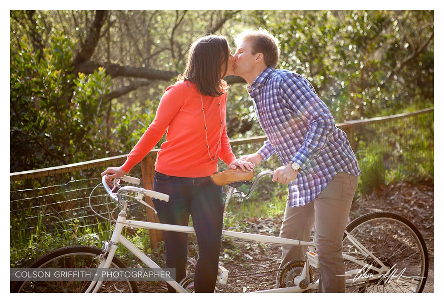 11 San Francisco Presidio Tandem Bike Engagement RB Rachel and Brandons Engagement Session   A Tandem Bike in San Franciscos Presidio